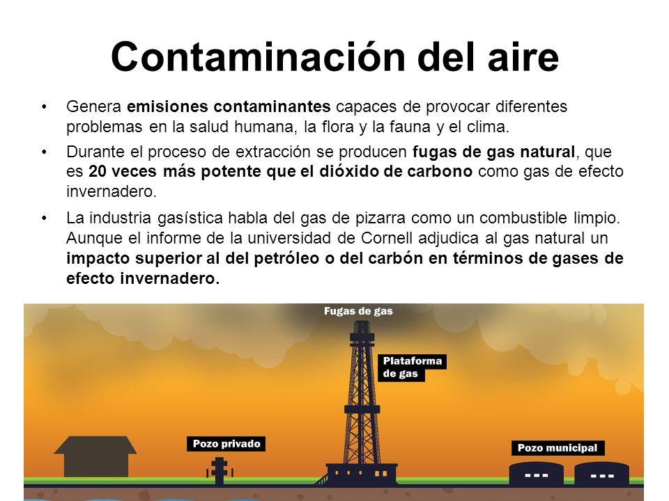 Contaminación del aire Genera emisiones contaminantes capaces de provocar diferentes problemas en la salud humana, la flora y la fauna y el clima.