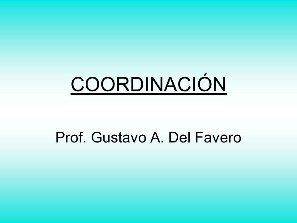 COORDINACIÓN Prof. Gustavo A. Del Favero