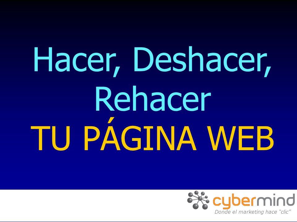 Hacer, Deshacer, Rehacer TU PÁGINA WEB Donde el marketing hace clic