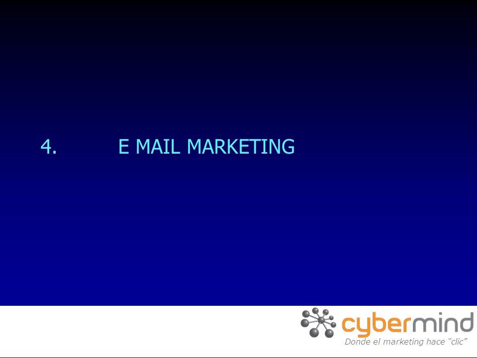 4. E MAIL MARKETING Donde el marketing hace clic