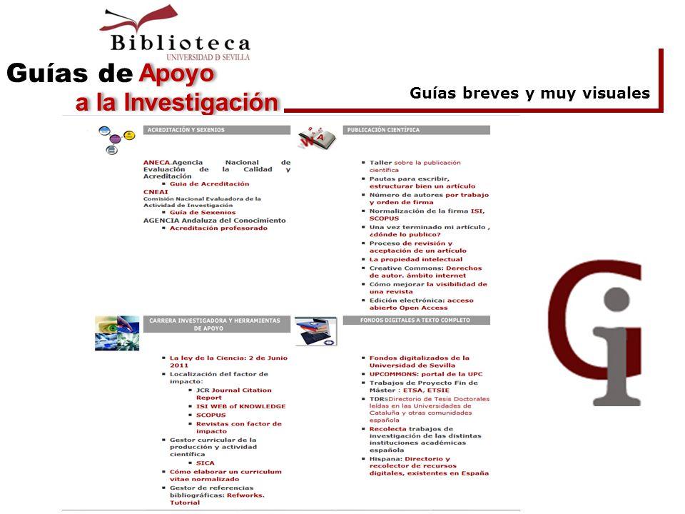 Guías breves y muy visuales Apoyo a la Investigación Guías de