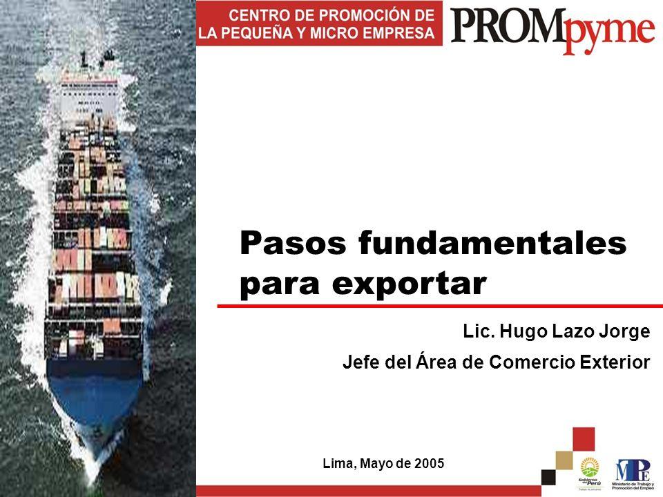 Pasos fundamentales para exportar Lic.