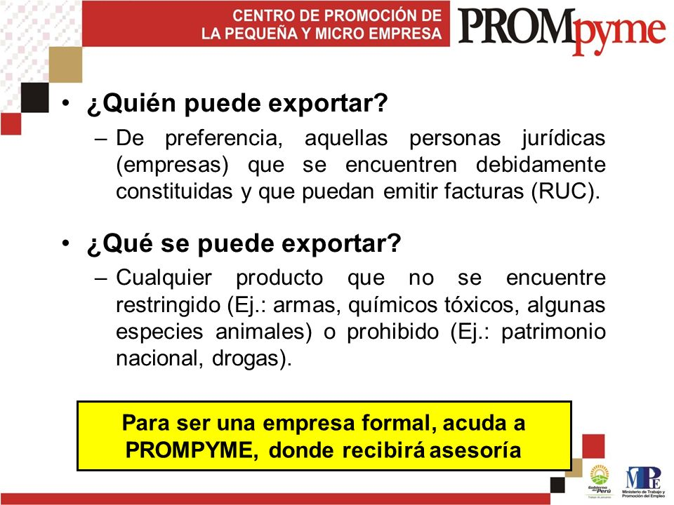 4. Alternativas de Exportación