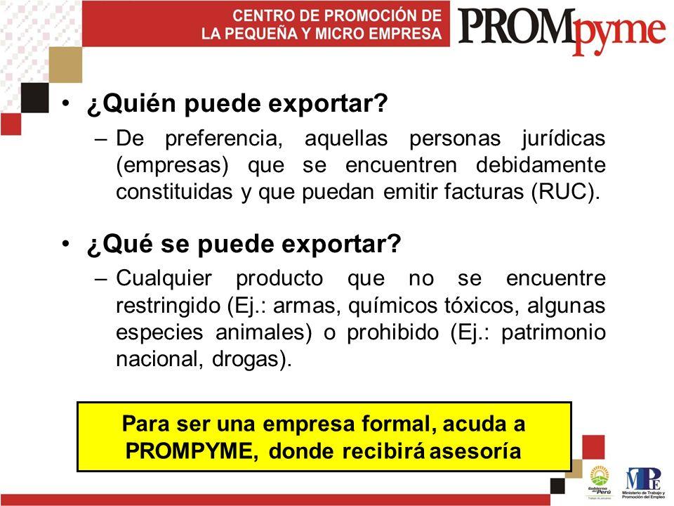 ¿Quién puede exportar.