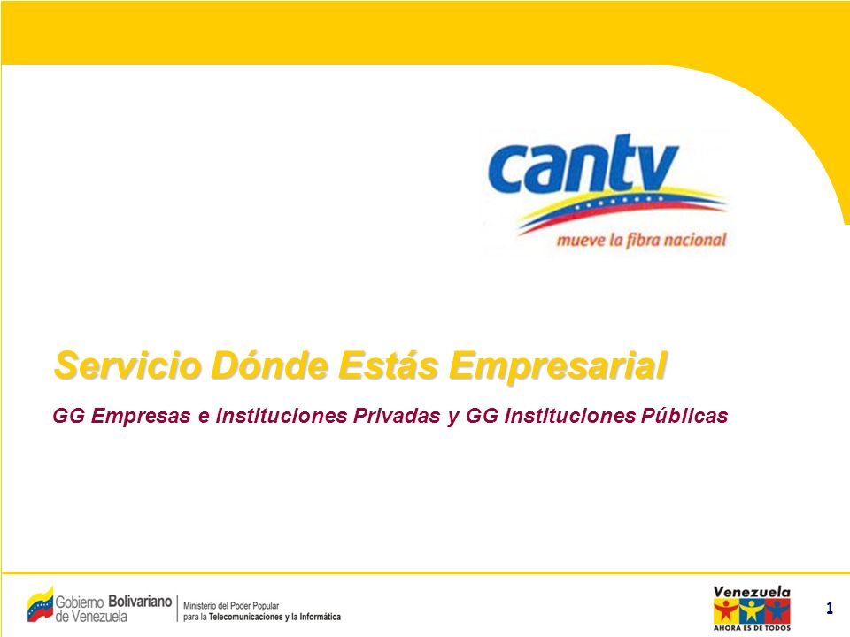 Compañía Anónima Nacional Teléfonos de Venezuela (NYSE:VNT) 2 –Descripción del Servicio –Facilidades –Modalidades del Servicio Acceso Vía SMSAcceso Vía SMS Acceso Vía WAPAcceso Vía WAP –Mercado Meta –Beneficios –Centros de Información Agenda