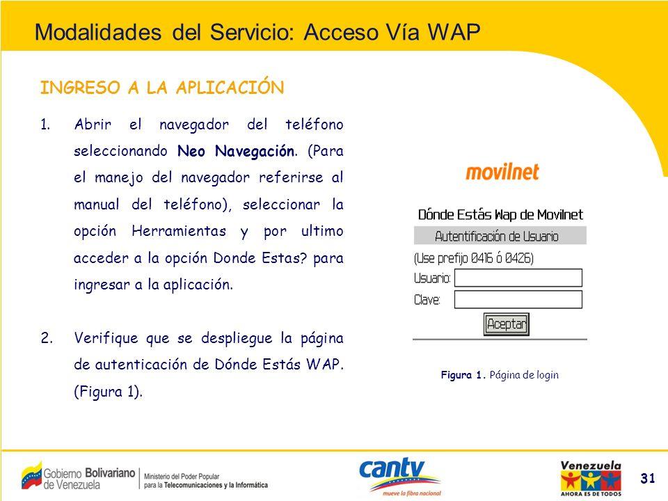 Compañía Anónima Nacional Teléfonos de Venezuela (NYSE:VNT) 31 INGRESO A LA APLICACIÓN 1.Abrir el navegador del teléfono seleccionando Neo Navegación.
