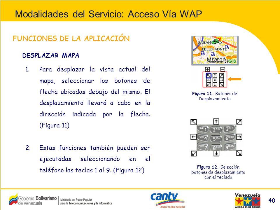 Compañía Anónima Nacional Teléfonos de Venezuela (NYSE:VNT) 40 FUNCIONES DE LA APLICACIÓN 1.Para desplazar la vista actual del mapa, seleccionar los botones de flecha ubicados debajo del mismo.
