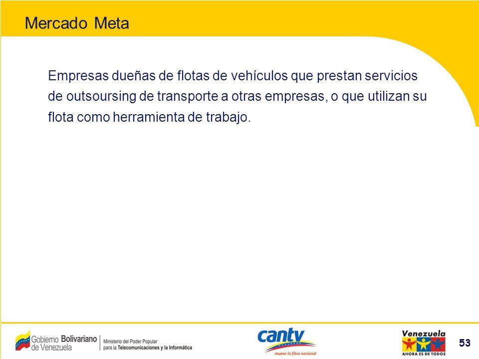 Compañía Anónima Nacional Teléfonos de Venezuela (NYSE:VNT) 53 Empresas dueñas de flotas de vehículos que prestan servicios de outsoursing de transporte a otras empresas, o que utilizan su flota como herramienta de trabajo.