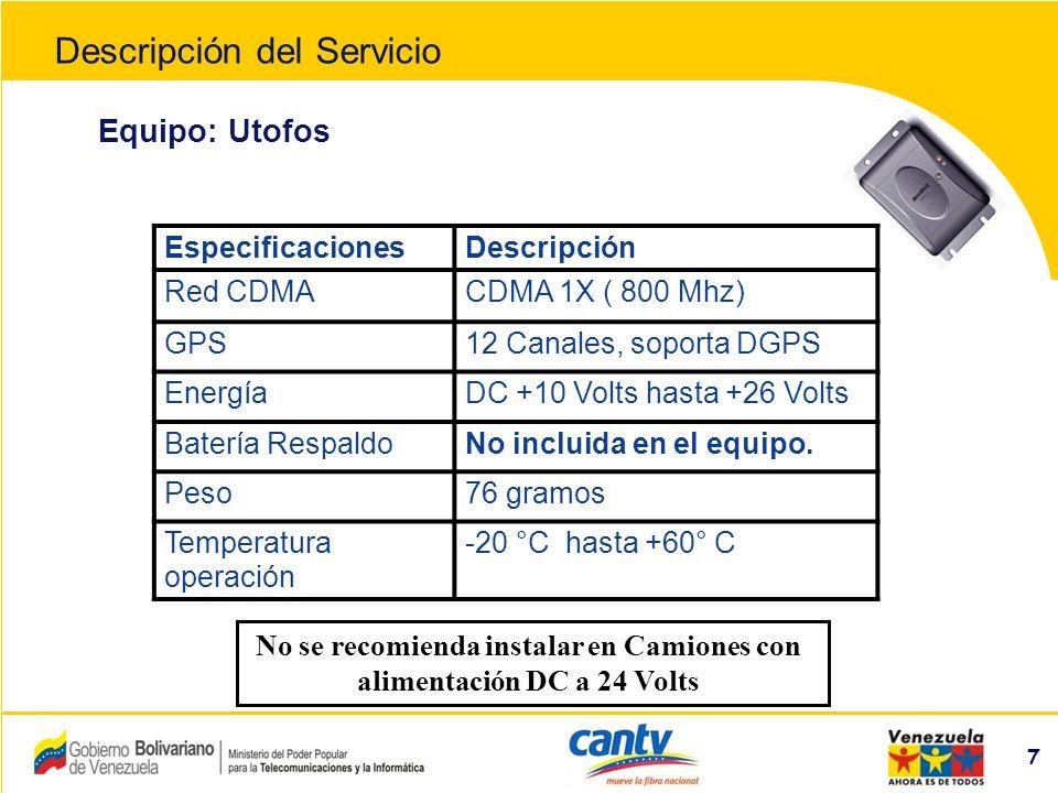 Compañía Anónima Nacional Teléfonos de Venezuela (NYSE:VNT) 38 FUNCIONES DE LA APLICACIÓN 1.Para acercar la vista del mapa, seleccionar el botón + ubicado debajo del este.