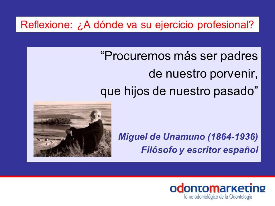 Procuremos más ser padres de nuestro porvenir, que hijos de nuestro pasado Miguel de Unamuno (1864-1936) Filósofo y escritor español Reflexione: ¿A dó