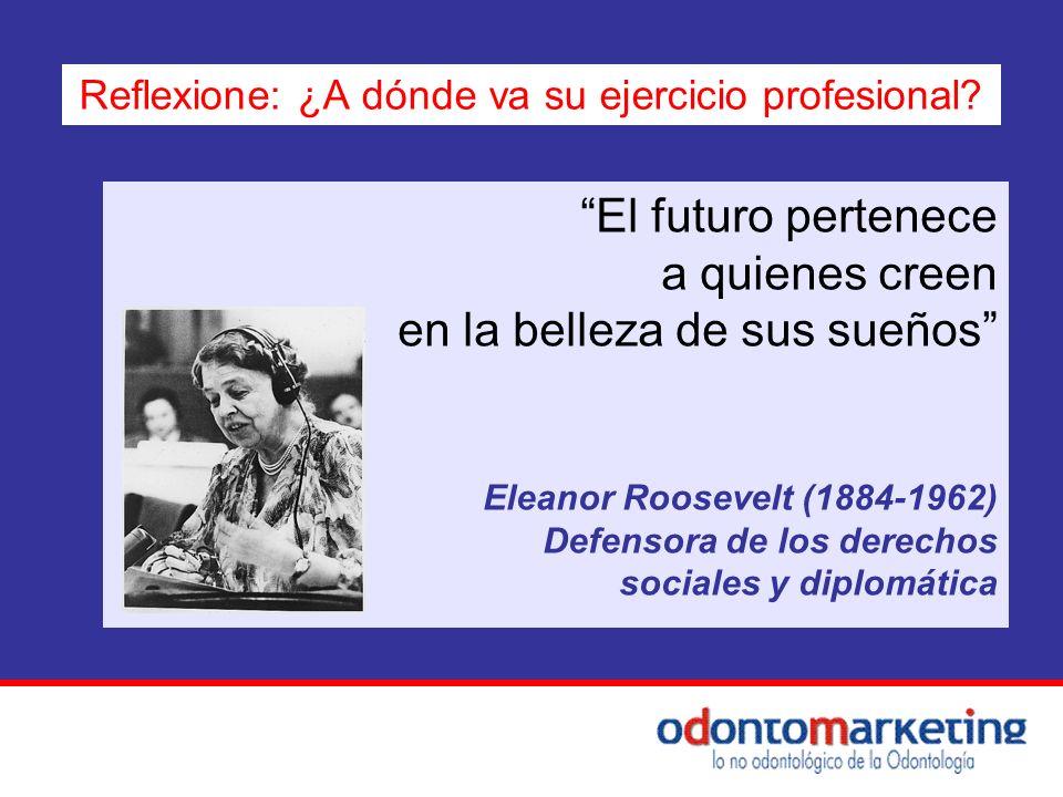 El futuro pertenece a quienes creen en la belleza de sus sueños Eleanor Roosevelt (1884-1962) Defensora de los derechos sociales y diplomática Reflexi