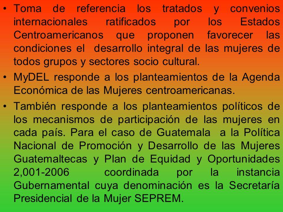 Toma de referencia los tratados y convenios internacionales ratificados por los Estados Centroamericanos que proponen favorecer las condiciones el des
