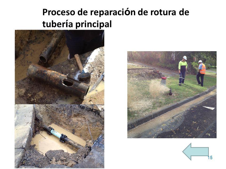 Fuente: http://www.costain.com/news/news-releases/2010/7/26/building-the-barrier.aspx 15 Proceso de reparaci ó n de rotura de tuber í a principal