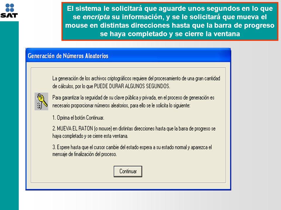 El sistema le indicará que ya cuenta con su certificado digital y llave privada y le solicitará que para generar su archivo.req dé click en la opción sí a fin de generarlo y enviarlo vía Internet al SAT