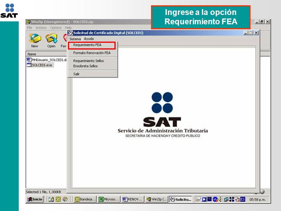 Proceda a ingresar la información que se solicita en la aplicación, como es el caso de: 1.