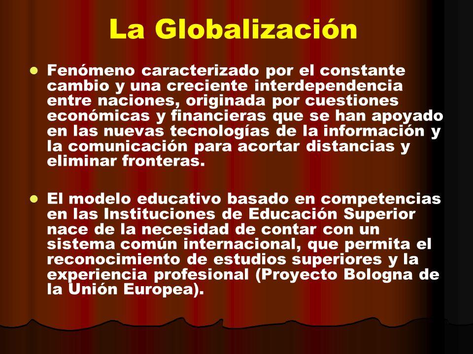 Fenómeno caracterizado por el constante cambio y una creciente interdependencia entre naciones, originada por cuestiones económicas y financieras que