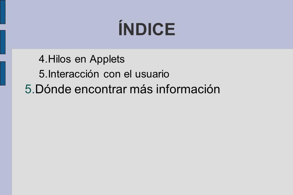 4.1 ¡Hola Mundo! En Java (html) Este es un ejemplo de un applet: