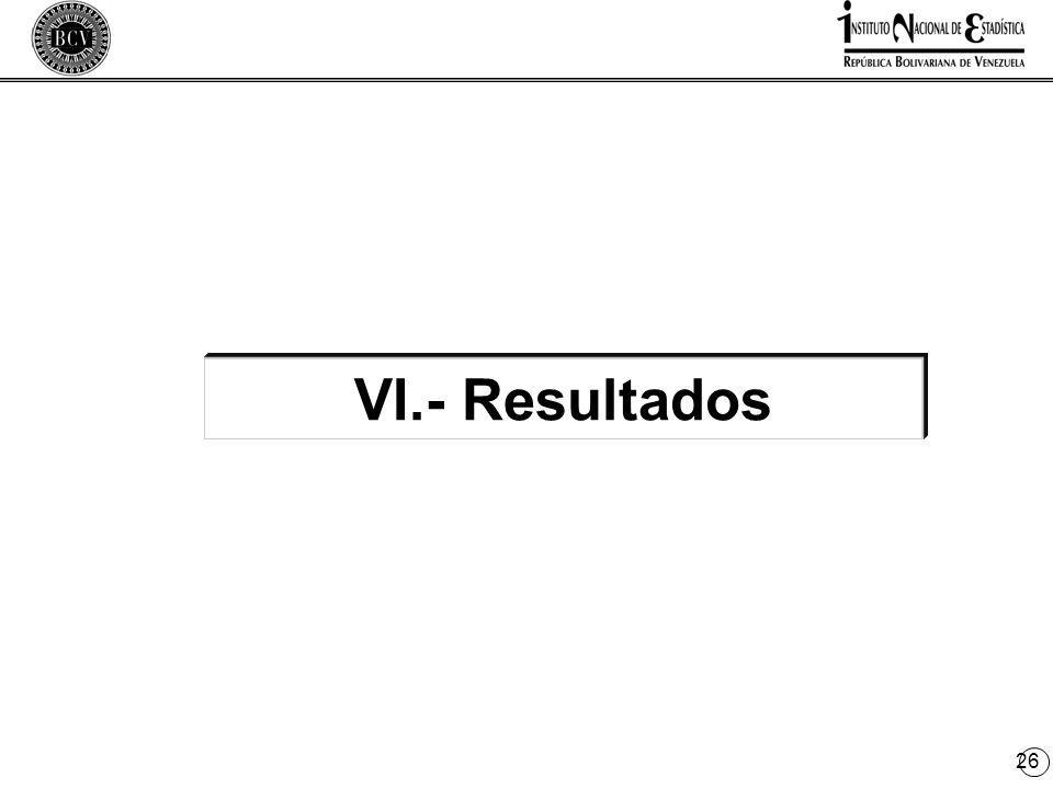 26 VI.- Resultados