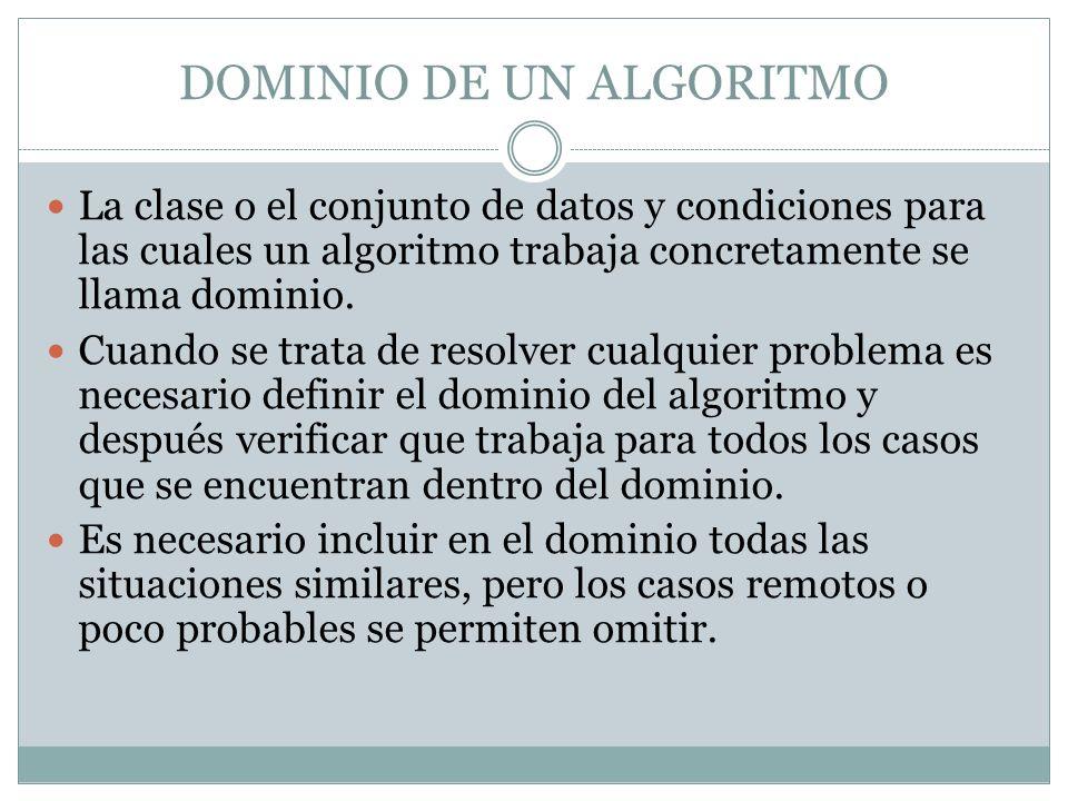 ERRORES EN LA CONTRUCCIÓN DEL DOMINIO.