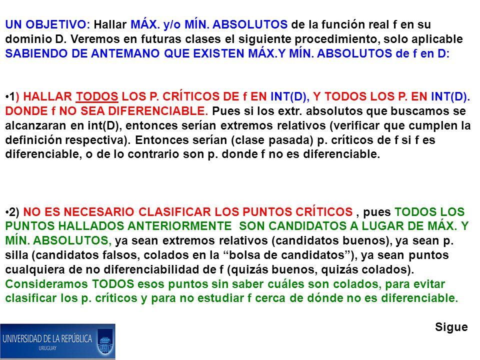 CLASE 24 PARTE 4: MÉTODO DEL DIFERENCIAL SEGUNDO PARA CLASIFICAR LOS PUNTOS CRÍTICOS.