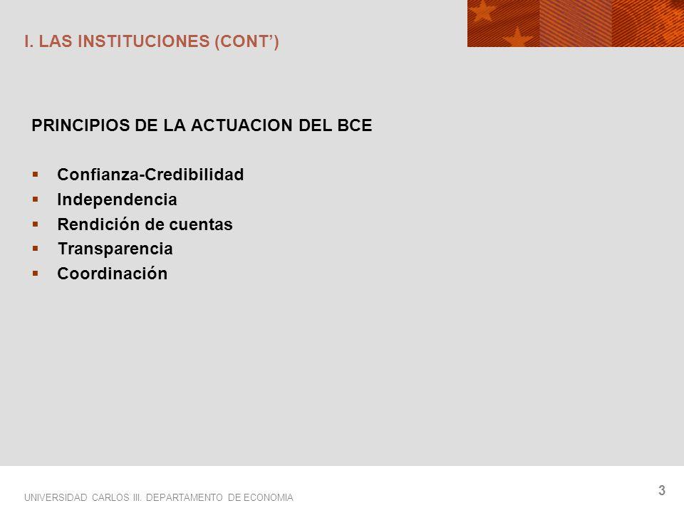UNIVERSIDAD CARLOS III. DEPARTAMENTO DE ECONOMIA 3 I.