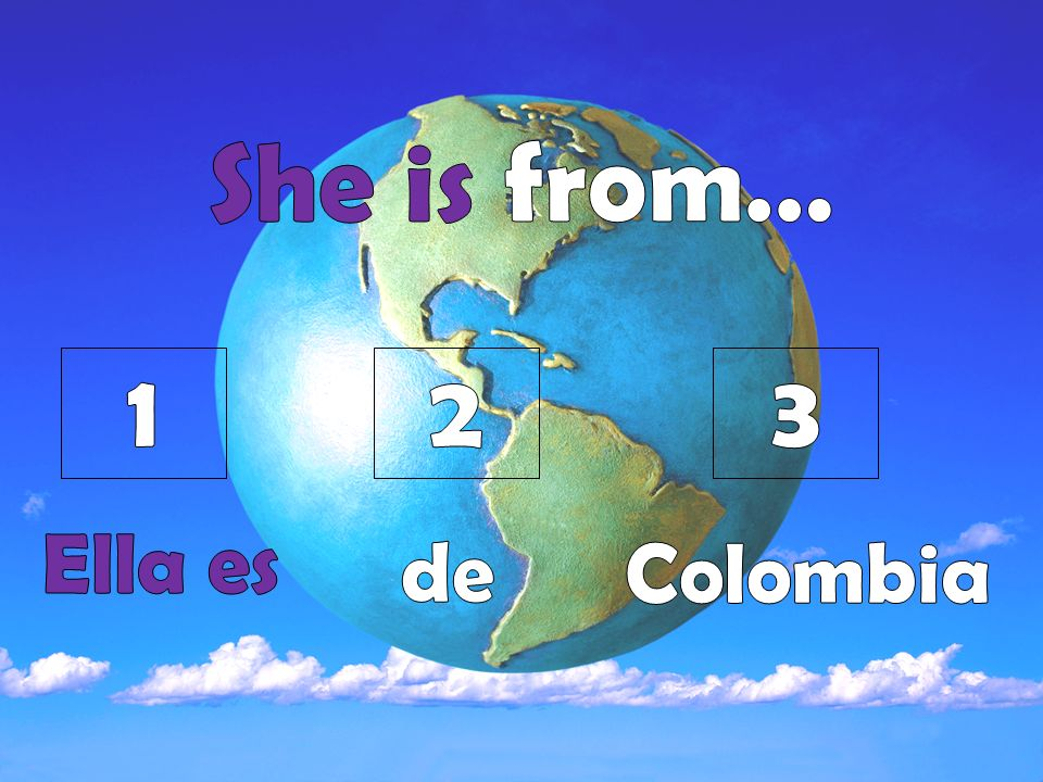 Ask a partner where he or she is from.Your partner will answer with the country listed.