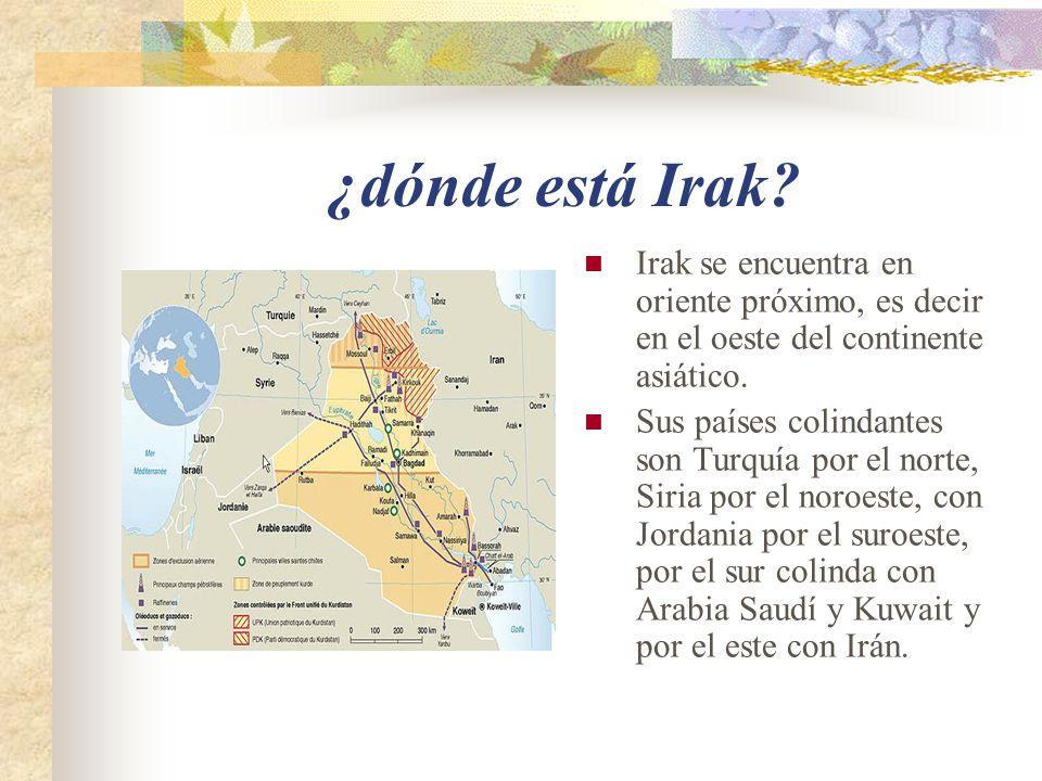 ¿dónde está Irak.