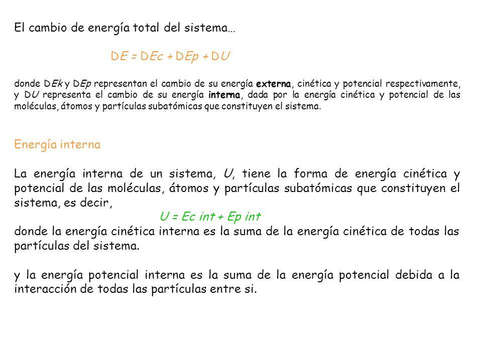 Medida de la energía Sólo las diferencias de energía, en vez de los valores absolutos de energía, tienen significación física, tanto a nivel atómico como en sistemas macroscópicos.