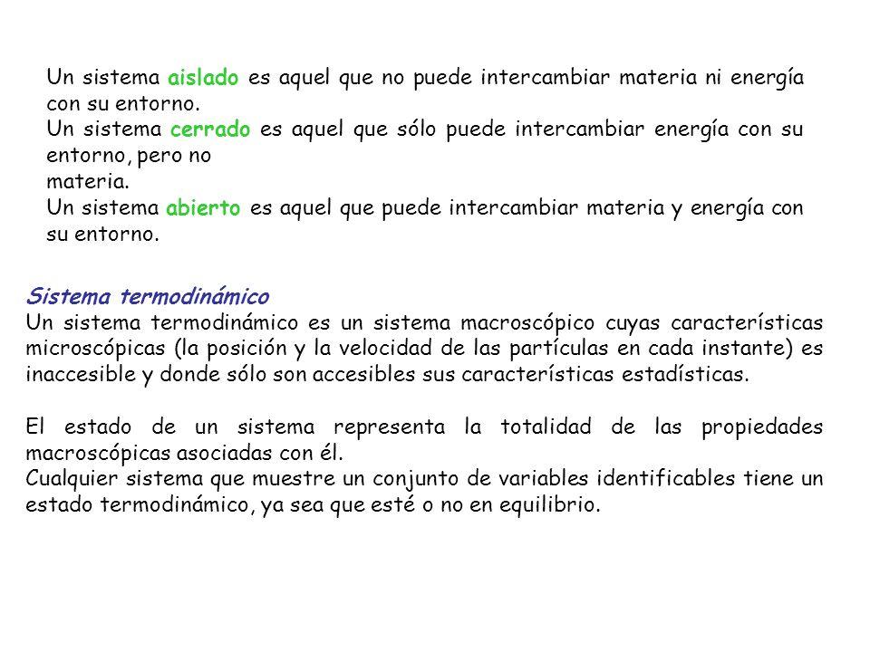 La termodinámica se ocupa de la energía y sus transformaciones en los sistemas desde un punto de vista macroscópico Un sistema puede ser cualquier objeto, cualquier cantidad de materia, cualquier región del espacio, etc., seleccionado para estudiarlo y aislarlo (mentalmente) de todo lo demás, lo cual se convierte entonces en el entorno del sistema.