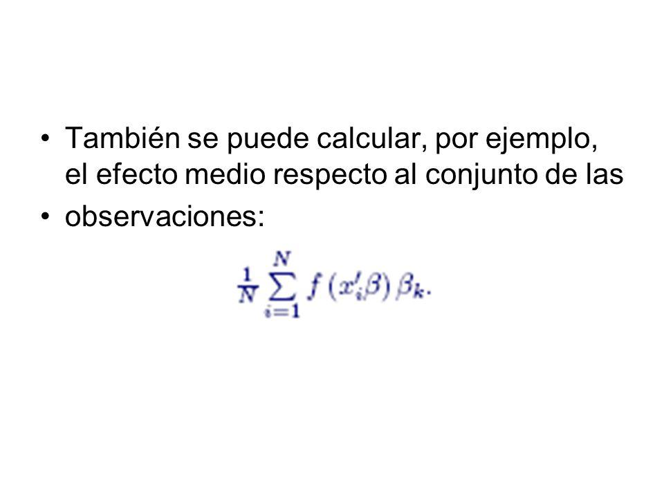 También se puede calcular, por ejemplo, el efecto medio respecto al conjunto de las observaciones: