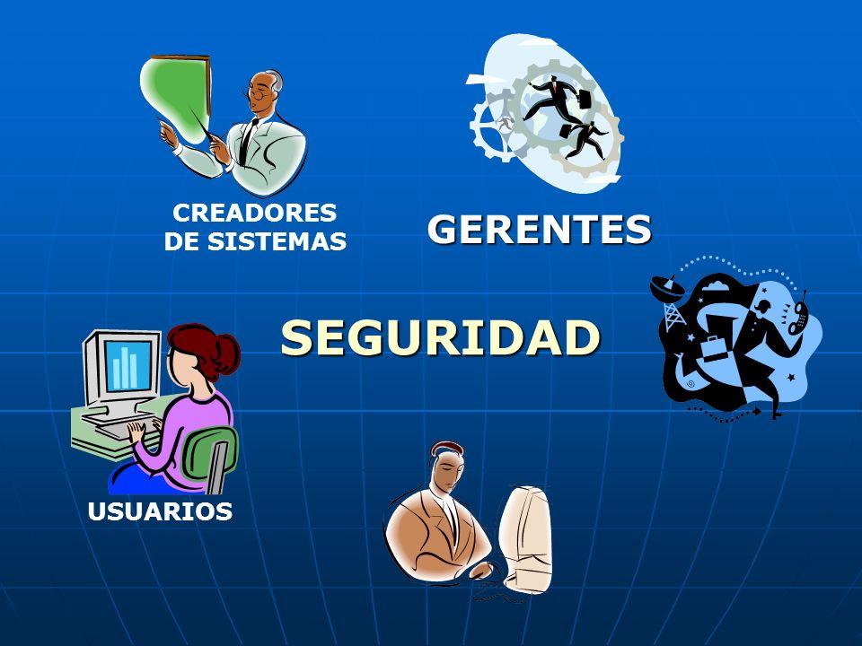 USUARIOS CREADORES DE SISTEMAS GERENTES SEGURIDAD