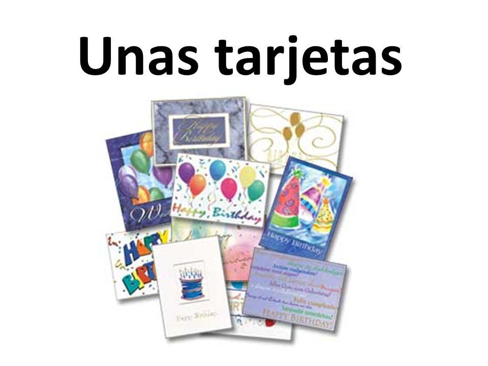 Unas tarjetas