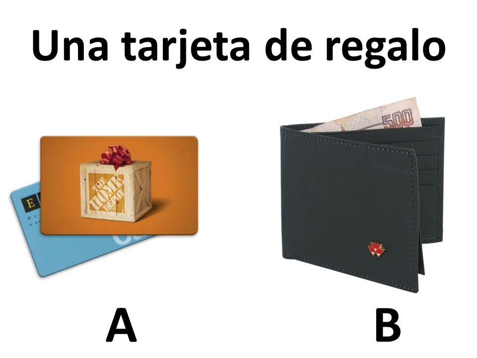 AB Una tarjeta de regalo