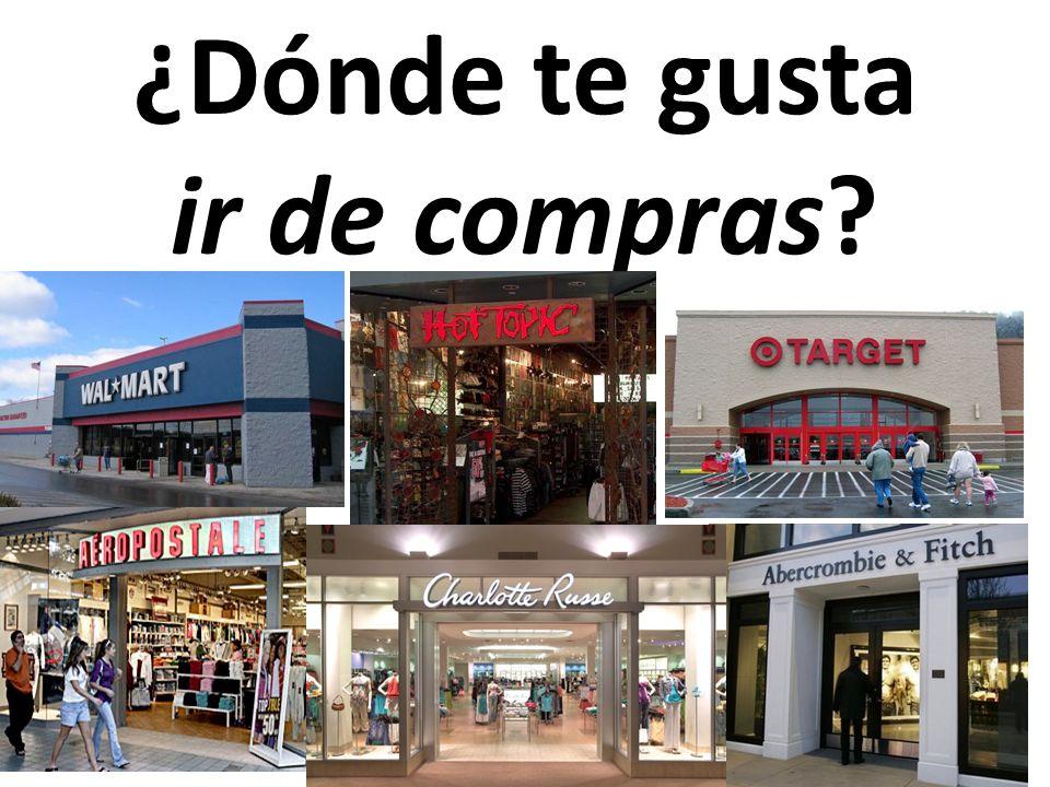 ¿Dónde te gusta ir de compras?