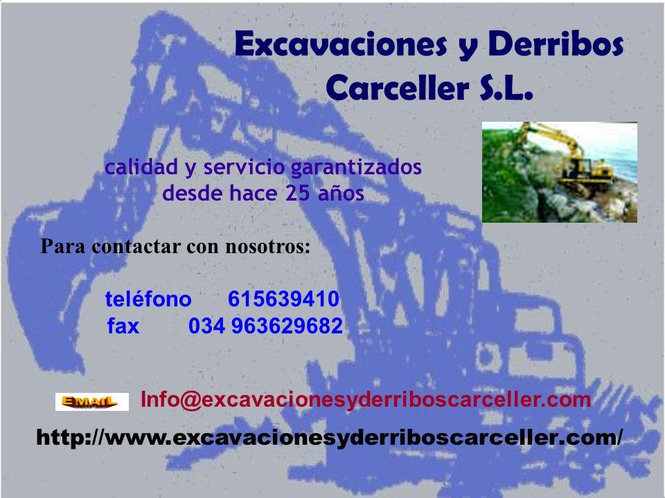 Excavaciones y Derribos Carceller S.L.
