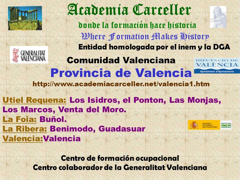 Academia Carceller Utiel Requena: Los Isidros, el Ponton, Las Monjas, Los Marcos, Venta del Moro.