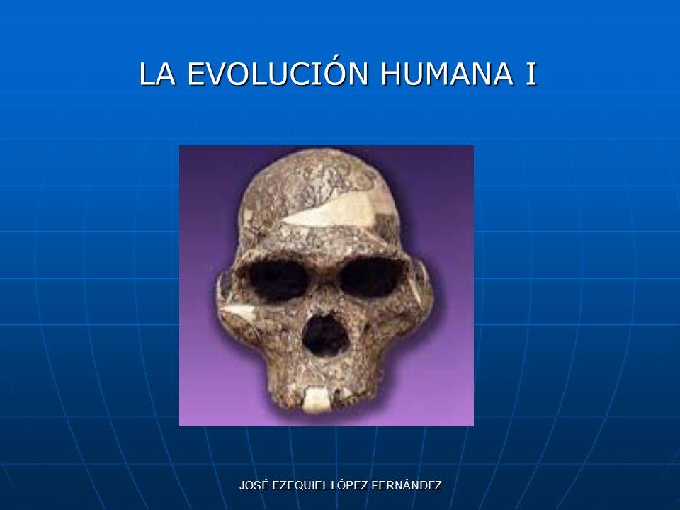 JOSÉ EZEQUIEL LÓPEZ FERNÁNDEZ LA EVOLUCIÓN HUMANA I