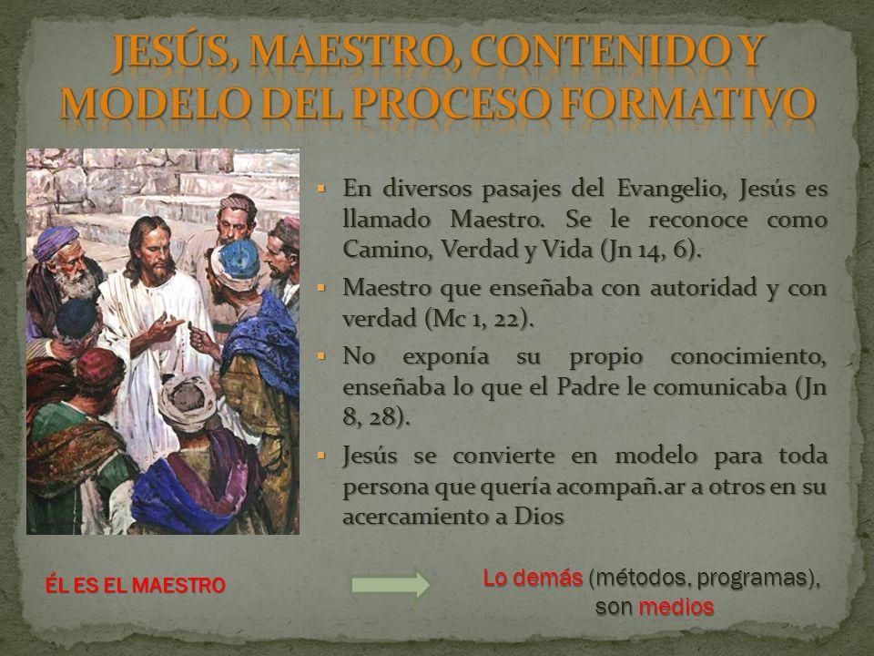 En diversos pasajes del Evangelio, Jesús es llamado Maestro.