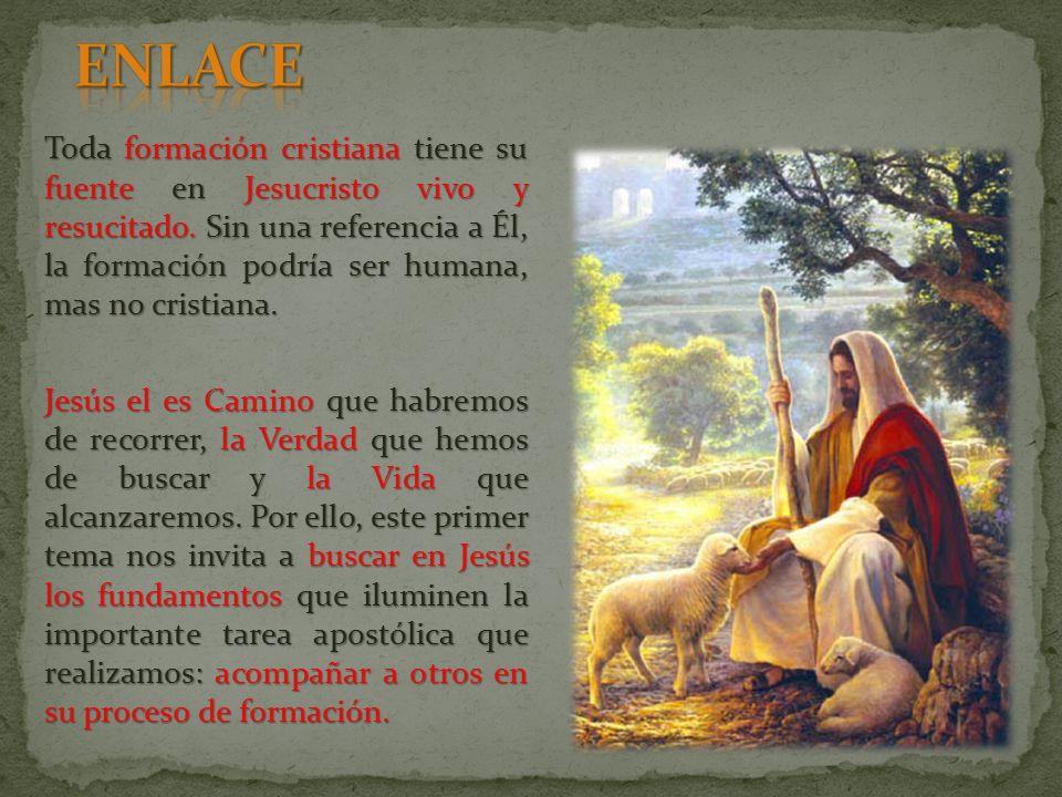 Toda formación cristiana tiene su fuente en Jesucristo vivo y resucitado.