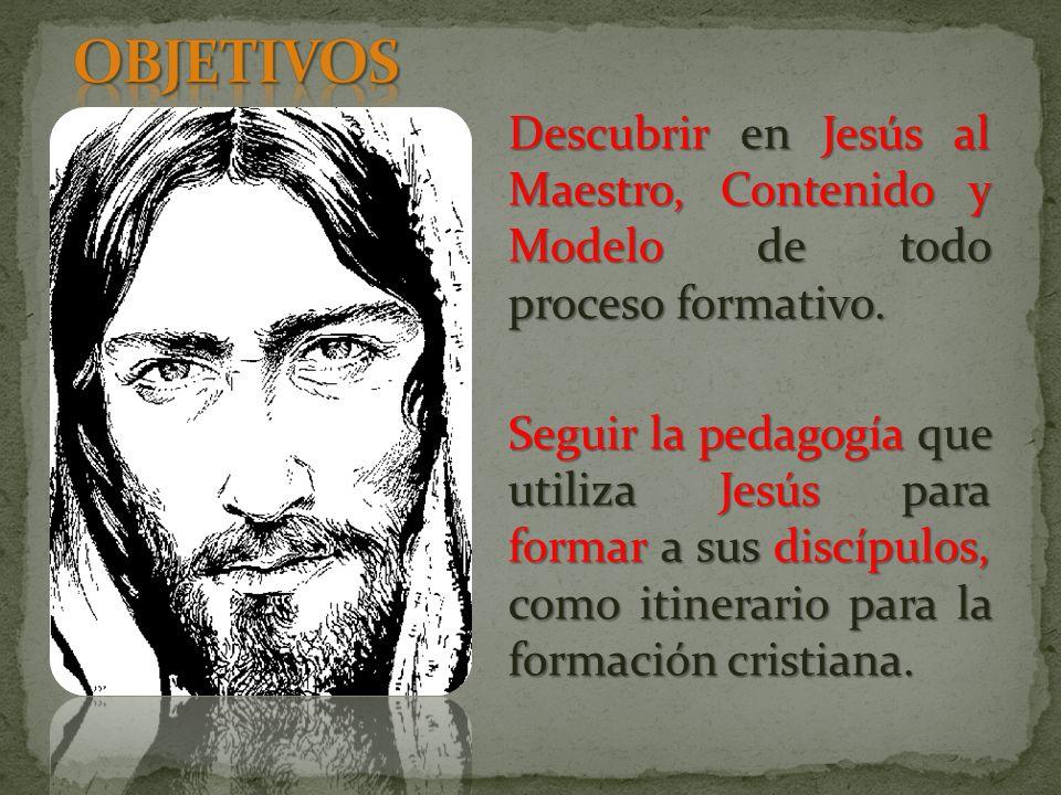 Descubrir en Jesús al Maestro, Contenido y Modelo de todo proceso formativo.