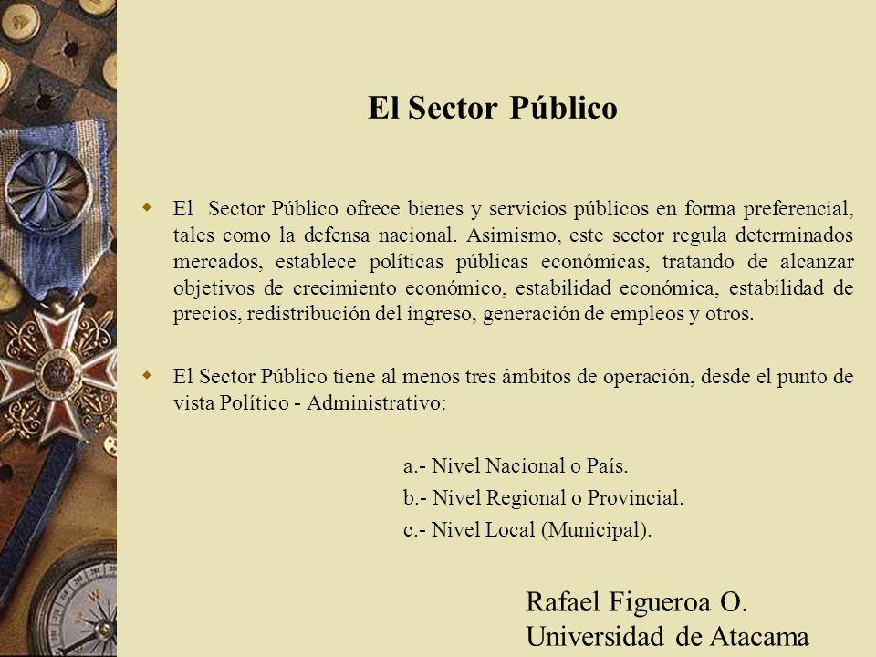 El Sector Público El Sector Público ofrece bienes y servicios públicos en forma preferencial, tales como la defensa nacional. Asimismo, este sector re