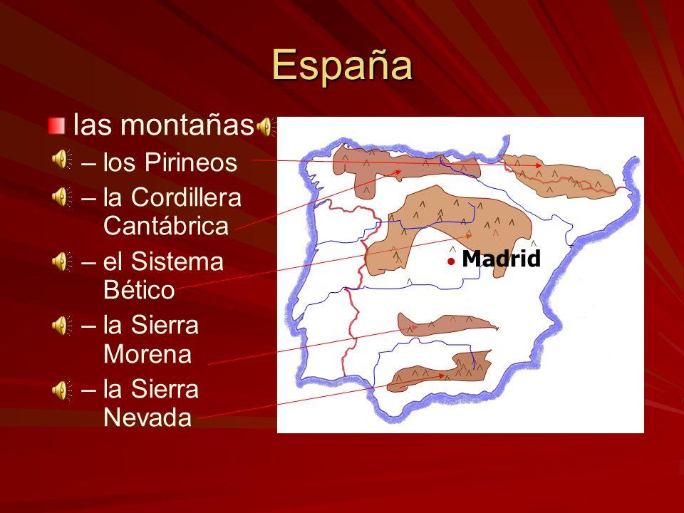 España los ríos más largos ––e––el Ebro ––e––el Duero ––e––el Tajo ––e––el Guadalquivir Madrid el Río Ebro el Río Tajo el Río Guadalquivir el Río Duer