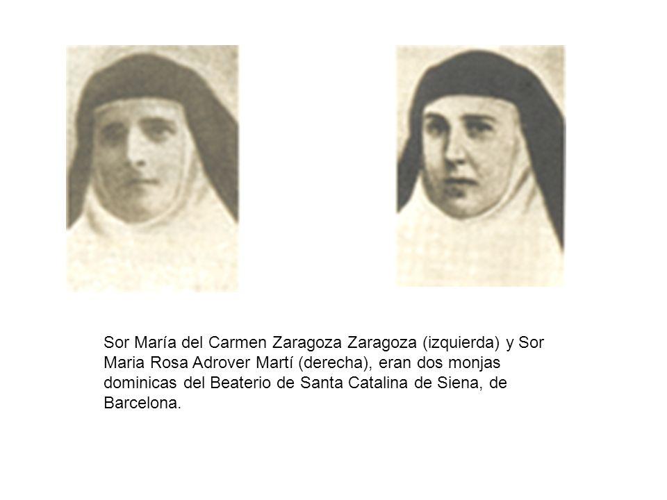 Sor María del Carmen Zaragoza Zaragoza (izquierda) y Sor Maria Rosa Adrover Martí (derecha), eran dos monjas dominicas del Beaterio de Santa Catalina
