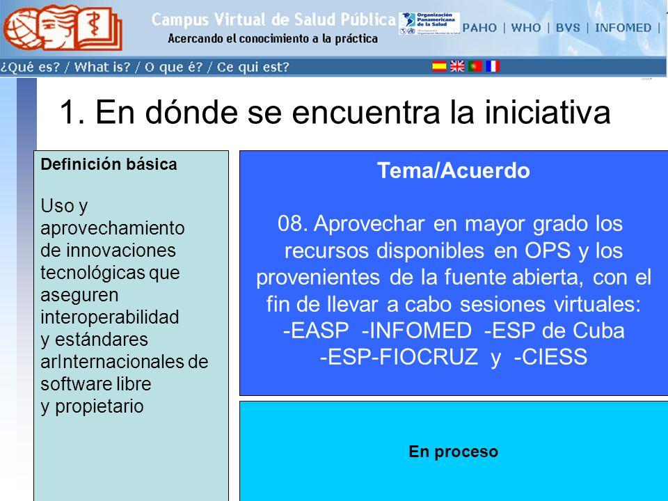 conectarse >> 1. En dónde se encuentra la iniciativa Tema/Acuerdo 08.