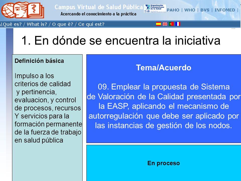 conectarse >> 1. En dónde se encuentra la iniciativa Tema/Acuerdo 09.