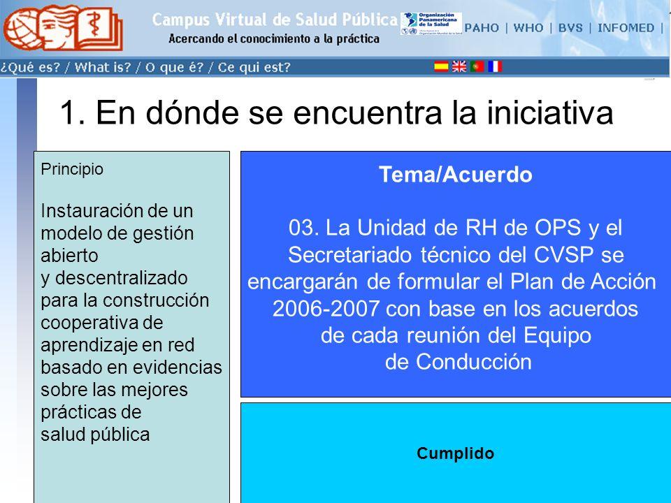 conectarse >> 1. En dónde se encuentra la iniciativa Tema/Acuerdo 03.
