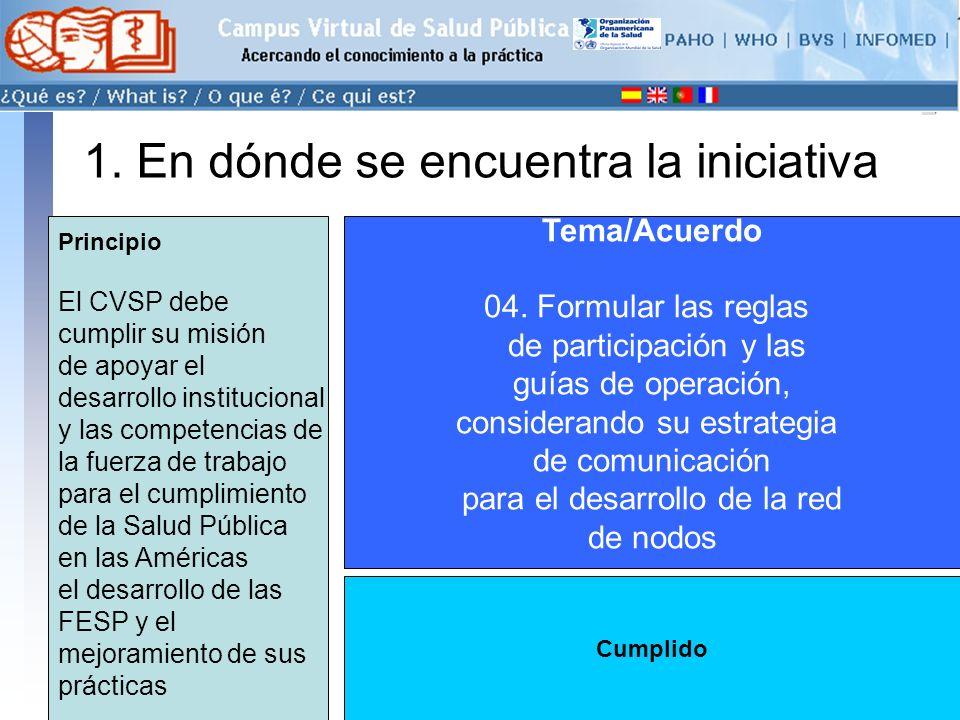 conectarse >> 1.En dónde se encuentra la iniciativa Tema/Acuerdo 05.