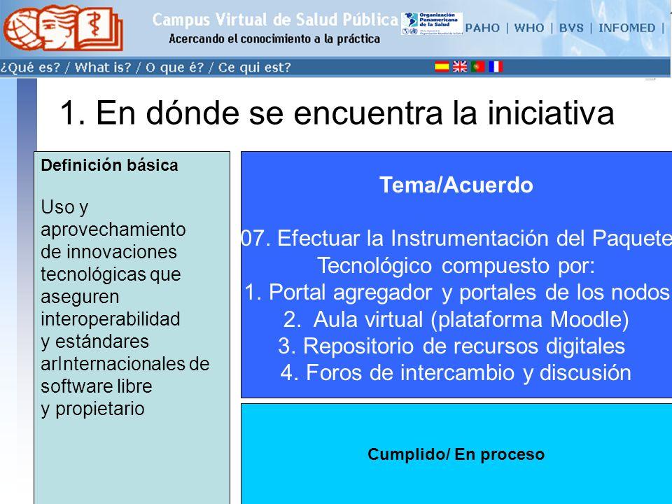 conectarse >> 1. En dónde se encuentra la iniciativa Tema/Acuerdo 07.