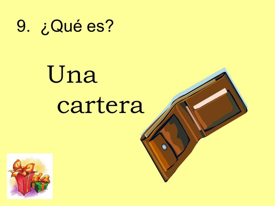 9. ¿Qué es? Una cartera