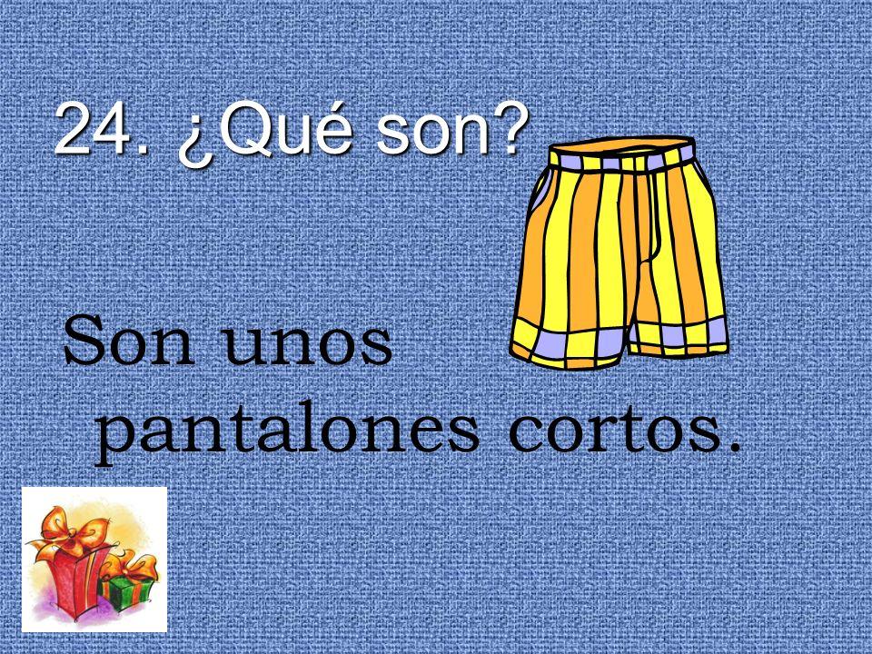 24. ¿Qué son? Son unos pantalones cortos.